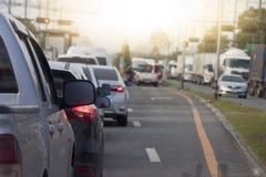 Carros na estrada no negócio Imagens de Stock Royalty Free