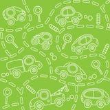 Carros na estrada Teste padrão sem emenda Imagem de Stock Royalty Free