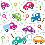 Carros na estrada Teste padrão sem emenda Foto de Stock Royalty Free