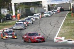 Carros na raça Foto de Stock Royalty Free