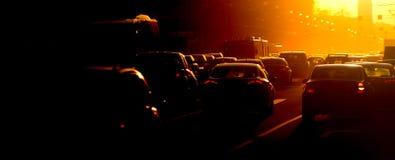 Carros no asfalto Imagem de Stock