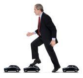 Carros no asfalto Imagens de Stock Royalty Free