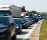 Carros no asfalto Imagens de Stock