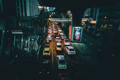 Carros no asfalto Foto de Stock