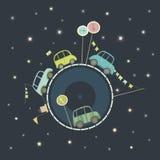 Carros no espaço grande Imagens de Stock Royalty Free