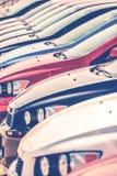 Carros no estoque do negociante Foto de Stock Royalty Free