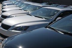 Carros no lote Foto de Stock Royalty Free