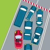 Carros no tráfego Foto de Stock Royalty Free