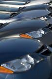 Carros novos Fotografia de Stock