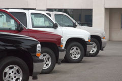 Carros novos e usados Foto de Stock Royalty Free