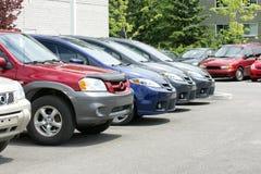 Carros novos para a venda Fotografia de Stock