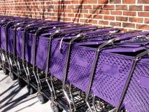 Carros púrpuras Fotografía de archivo libre de regalías