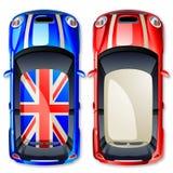Carros pequenos do vetor. Imagens de Stock Royalty Free