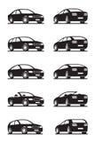 Carros populares na perspectiva Fotos de Stock