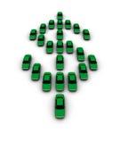 Carros que fazem o símbolo do dólar Imagem de Stock
