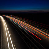 Carros que movem-se rapidamente Imagens de Stock Royalty Free