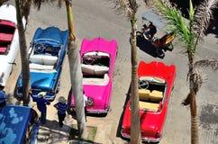Carros retros em Havana Fotografia de Stock