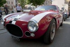 Carros retros Mille Miglia da raça famosa Fotografia de Stock Royalty Free