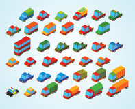 Carros superiores isométricos Fotos de Stock