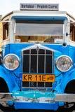Carros velhos clássicos na reunião de carros do vintage em Krakow, Polônia Imagem de Stock