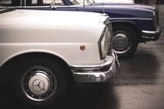 Carros velhos de Mercedes-Benz imagem de stock royalty free