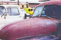 Carros velhos do vintage Imagem de Stock Royalty Free