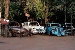 Carros velhos do vintage Fotografia de Stock