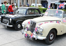 Carros velhos ingleses Foto de Stock Royalty Free