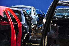 Carros velhos que reciclam o scrapyard Imagem de Stock