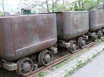 Carros viejos del carbón Imagen de archivo libre de regalías