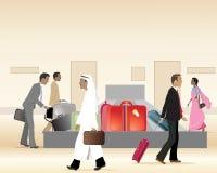 Carrossel da bagagem ilustração do vetor