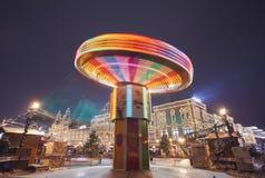 Carrossel da roda de Ferris no movimento Fotografia de Stock Royalty Free
