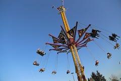 Carrossel de voo do balanço Fotografia de Stock
