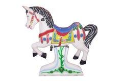 Carrossel do cavalo isolado Imagens de Stock Royalty Free