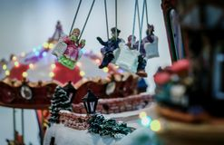 Carrossel do Natal Imagens de Stock Royalty Free