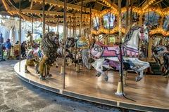 Carrossel do parque de diversões de Ronde do La Imagem de Stock