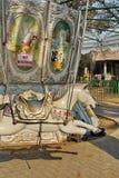 Carrossel do parque de diversões foto de stock royalty free