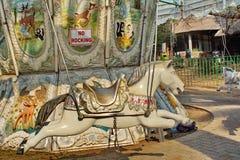 Carrossel do parque de diversões imagem de stock royalty free