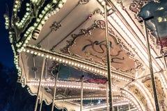 Carrossel francês em um parque do feriado Imagens de Stock