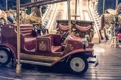Carrossel francês em um parque do feriado Imagens de Stock Royalty Free