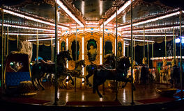 Carrossel na noite imagem de stock royalty free