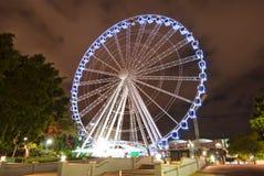 Carrossel na noite - Austrália da cidade de Brisbane fotografia de stock