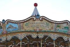 Carrossel no cais em Saint Tropez Fotografia de Stock Royalty Free