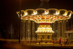 Carrossel no parque de Sochi fotografia de stock royalty free