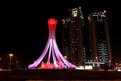 Carrossel ou Lulu Roundabout da pérola em Manama, Barhain imagem de stock royalty free