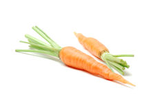 Carrot. Fresh Carrot  Isolated On White Royalty Free Stock Image