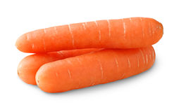 Isolated carrots stock photo