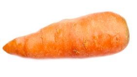 Carrot. Food over white background Royalty Free Stock Photo
