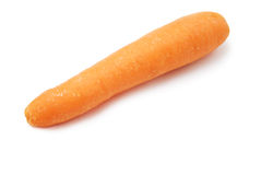 Carrot. One carrot isolated on white background stock photo