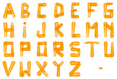 Carrot alphabet font Stock Image